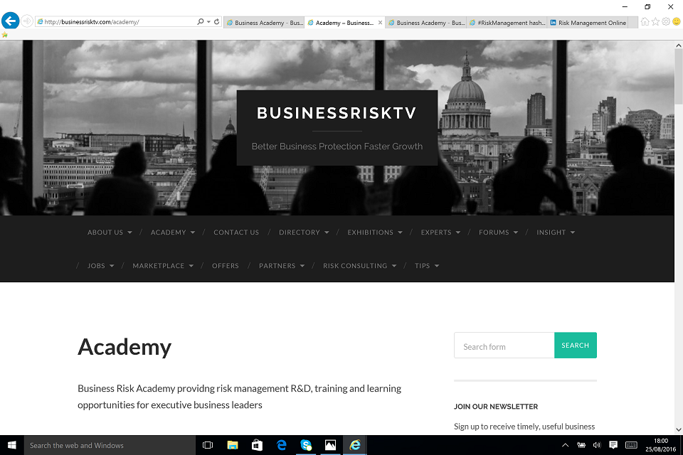 Learn better business management tools and techniques in our Risk Academy