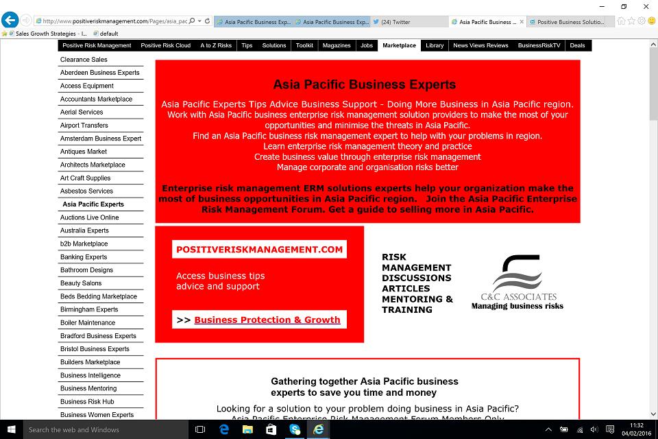 Asia Pacific Business Management Experts BusinessRiskTV.com