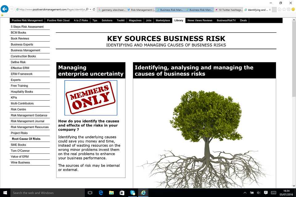 Identifying Key Sources Of Business Enterprise Risks BusinessRiskTV.com
