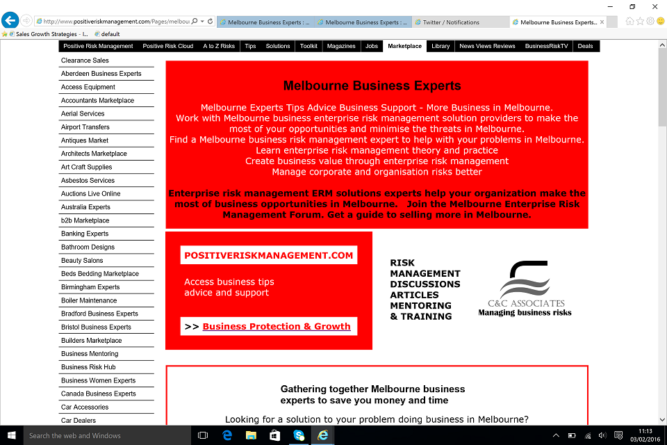 Find Melbourne Business Management Experts and your Melbourne business peers BusinessRiskTV.com