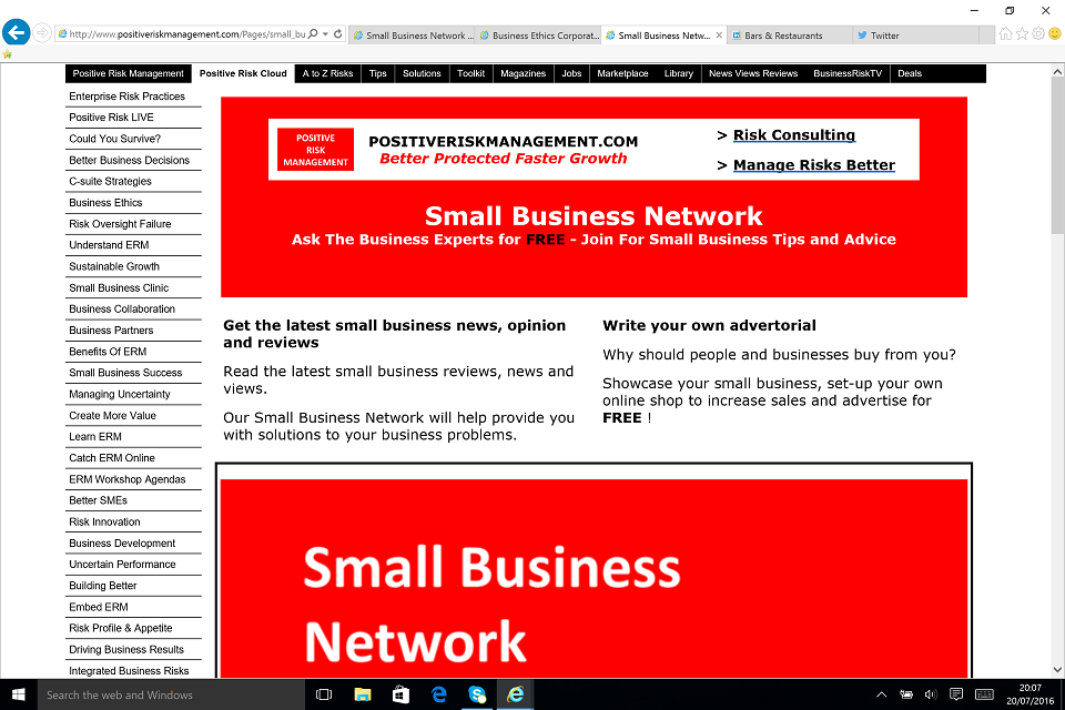 Small Business Network BusinessRiskTV.com
