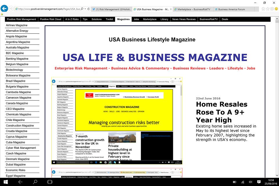 USA Business Lifestyle Magazine BusinessRiskTV.com