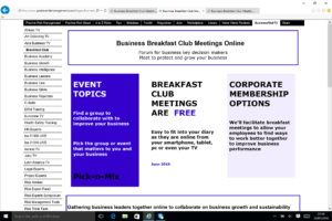 Business Breakfast Club Meetings Online