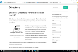 Small Medium Sized Businesses UK Business Directory BusinessRiskTV.com
