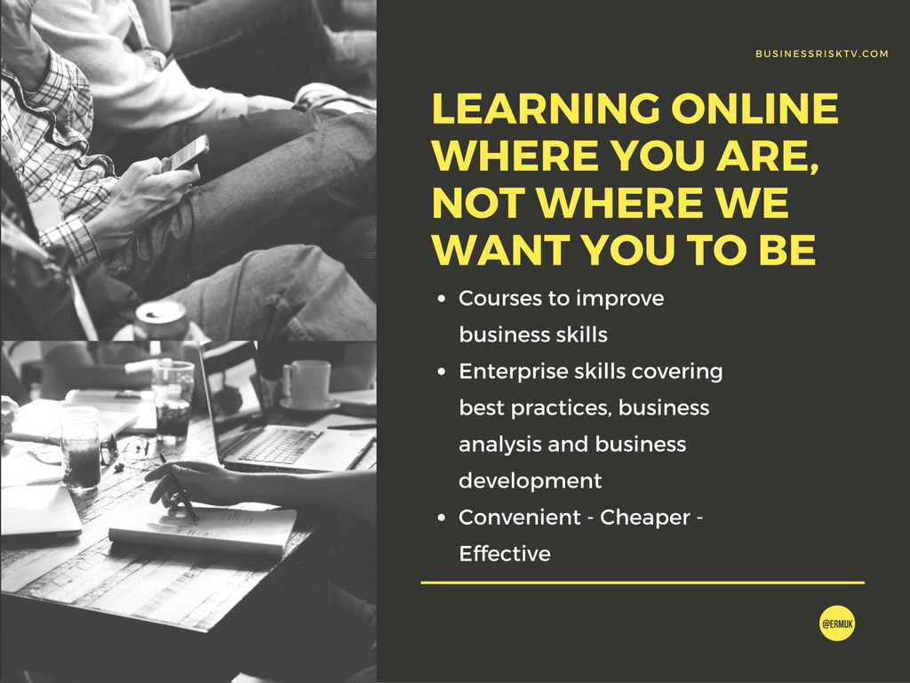 business training learning online where you are not where we want you to be