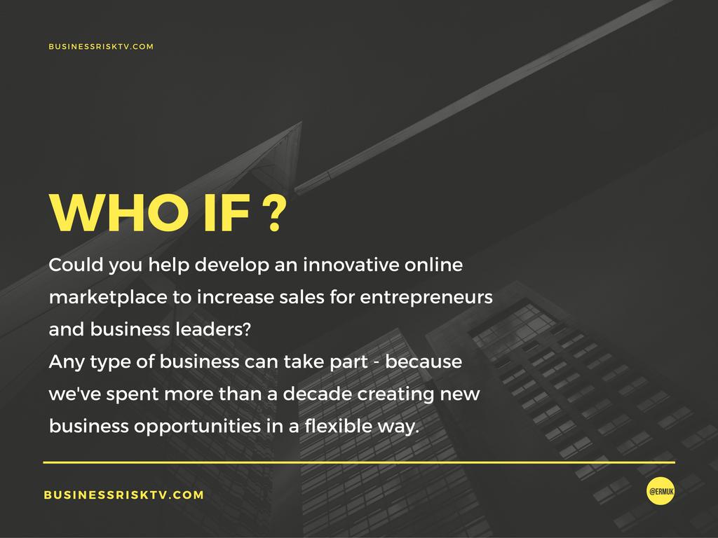 Innovative online marketplace to increase sales more profitably BusinessRiskTV.com