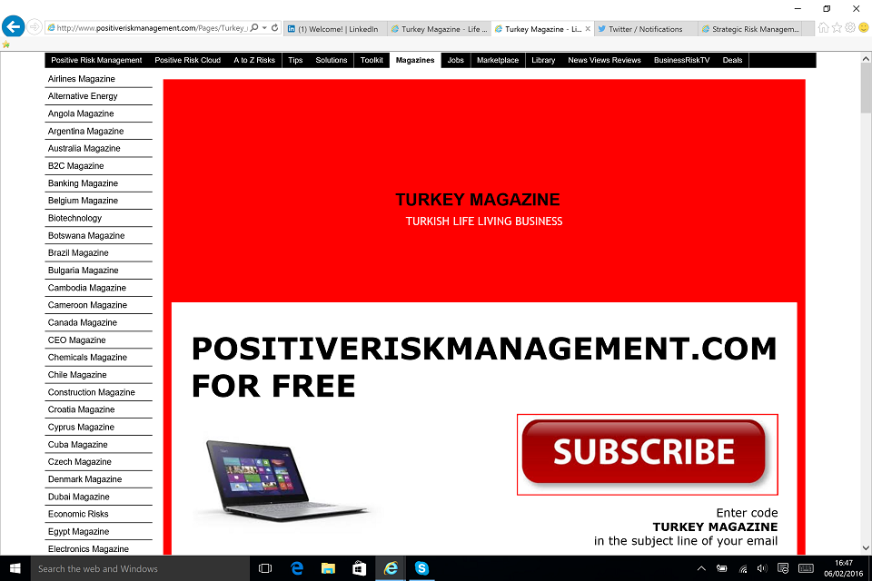 Turkey Business Life Lifestyle Magazine BusinessRiskTV.com