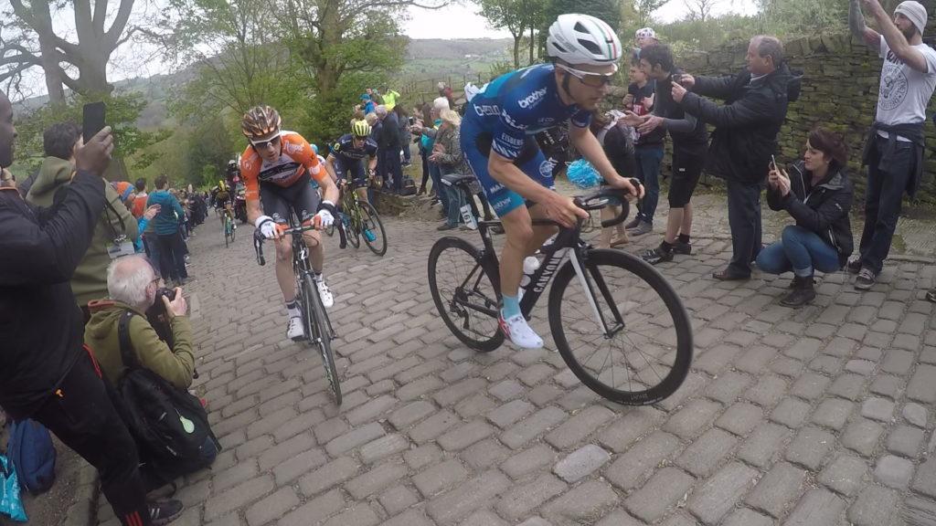 Tour De Yorkshire 2017 Leaders On Shibden Wall