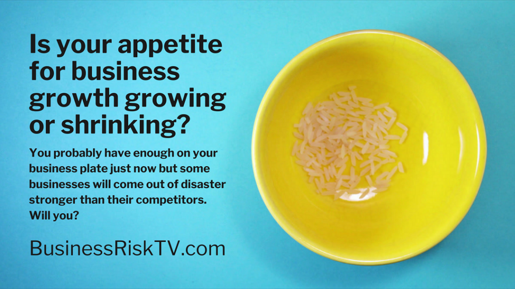 Is your appetite for business growth growing or shrinking?