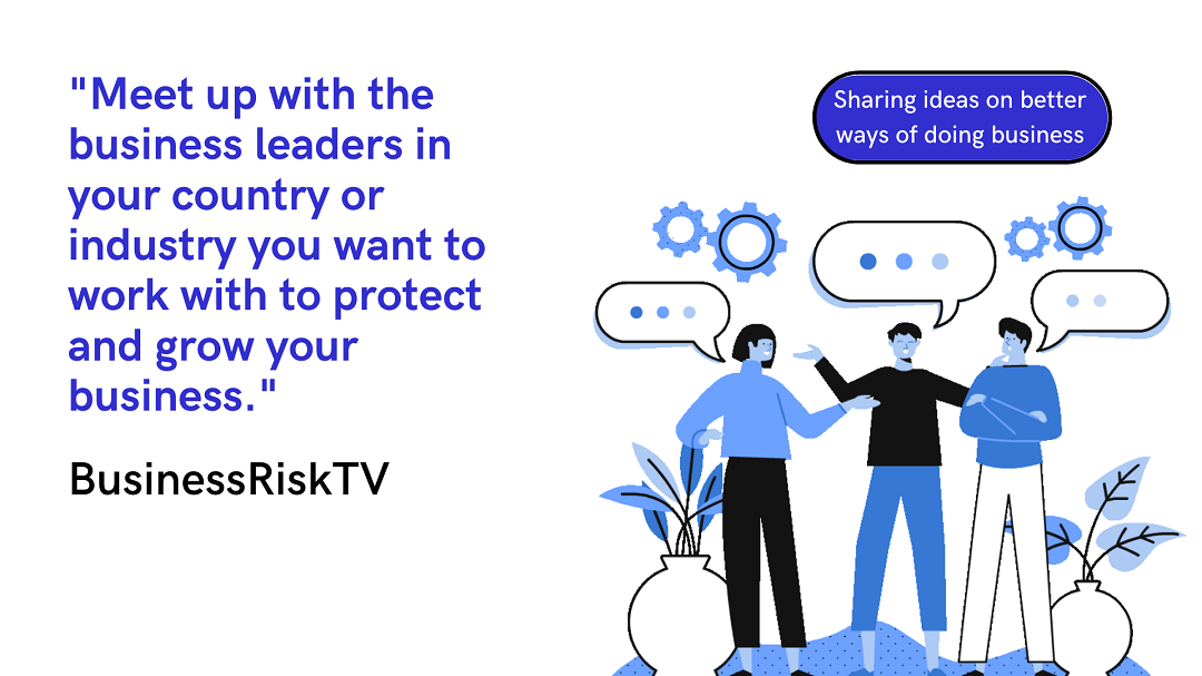 Meeting up to explore mutual business growth with BusinessRiskTV