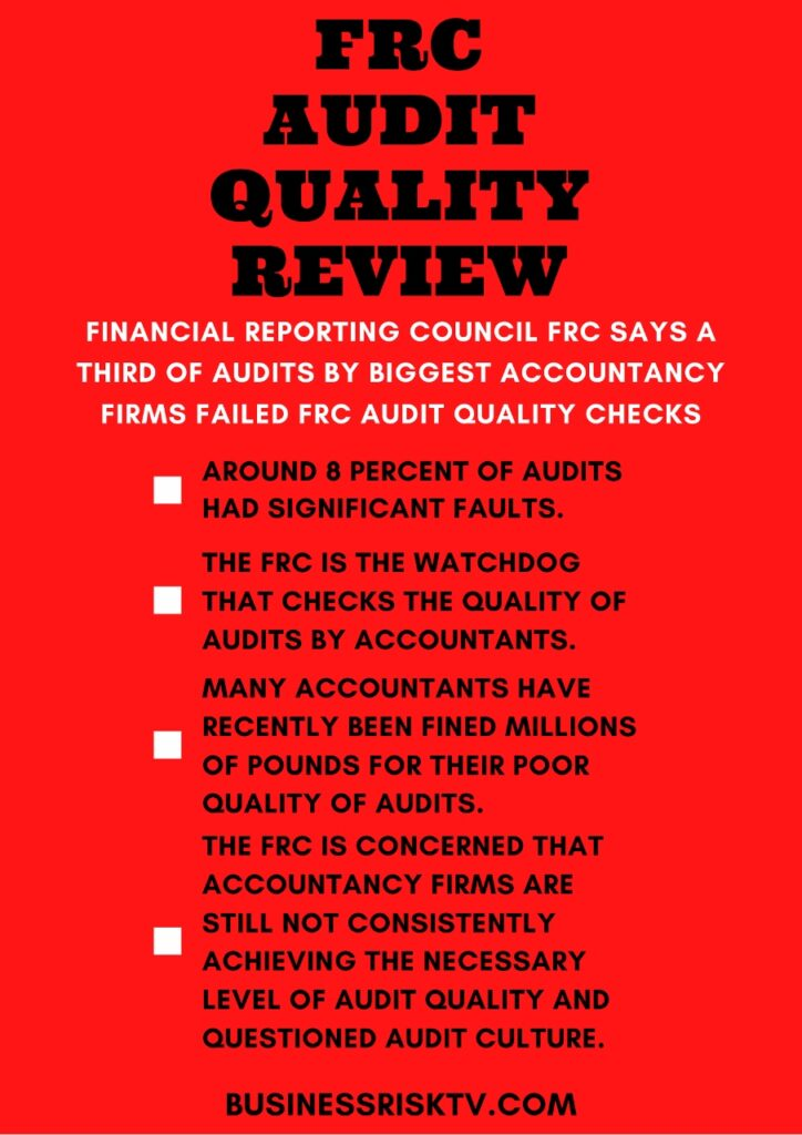 Financial Reporting Council Questions Audit Culture Of Top Accountancy Firms