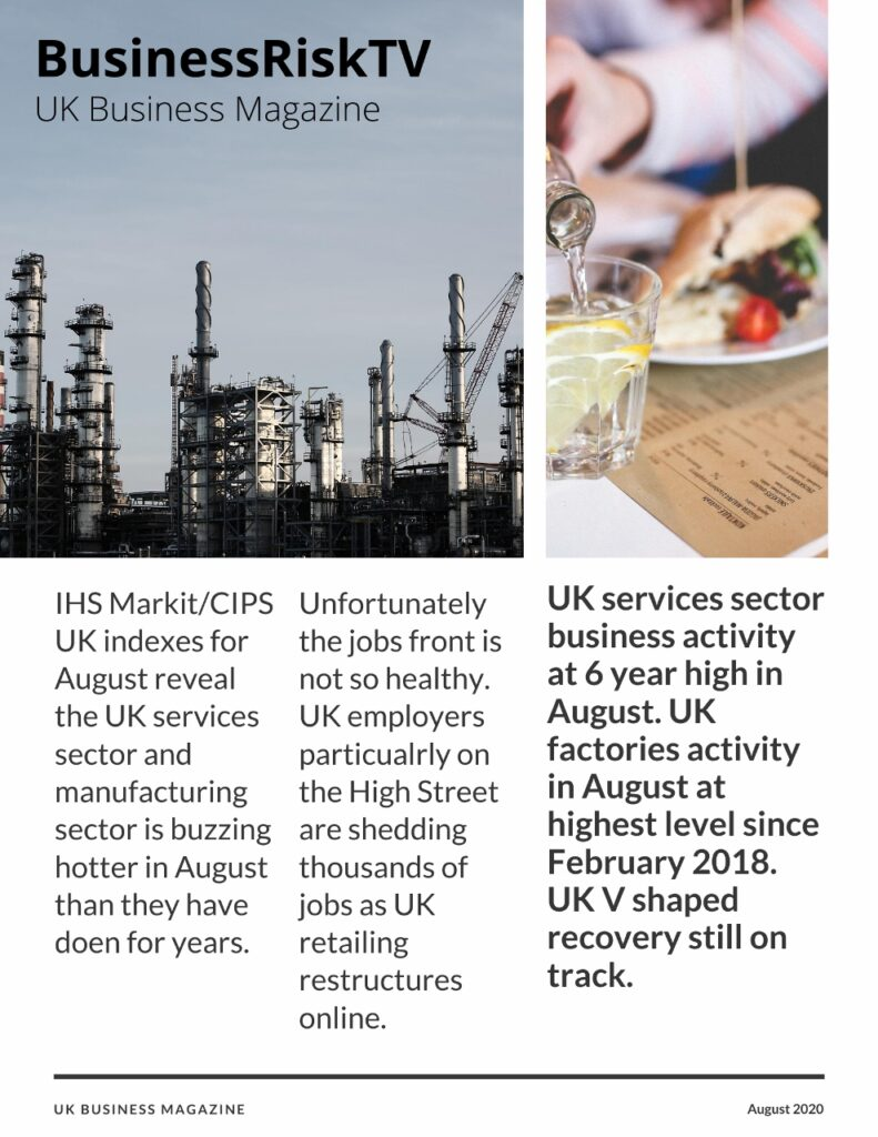 UK Business and Economy News and Risk Analysis Report August 2020