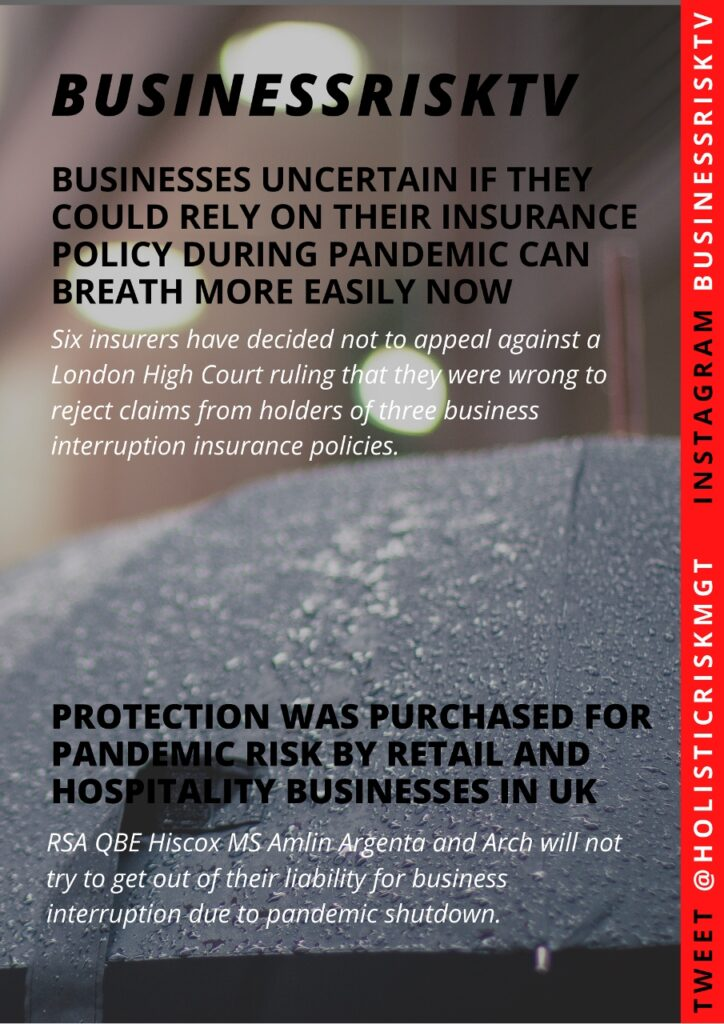 businesses uncertain if they could rely on their insurance policy during pandemic can breath more easily now