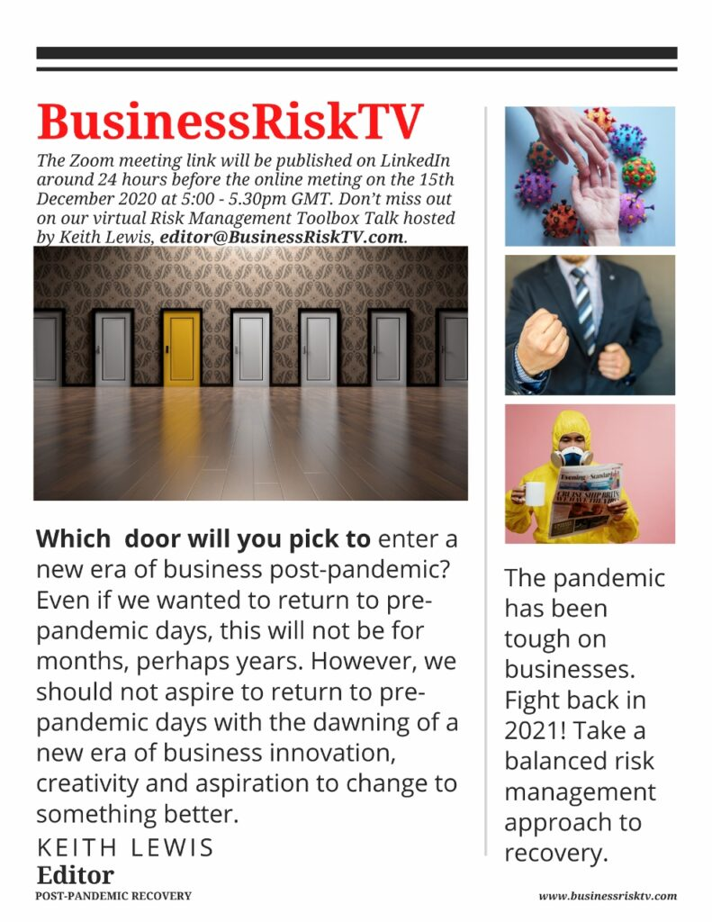 Pandemic Business Recovery with BusinessRiskTV