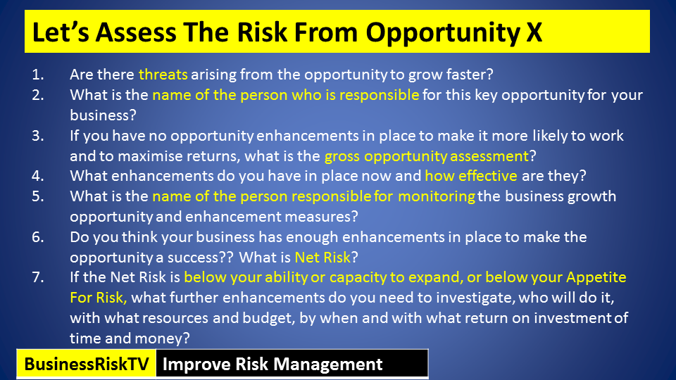Risk and opportunity management
