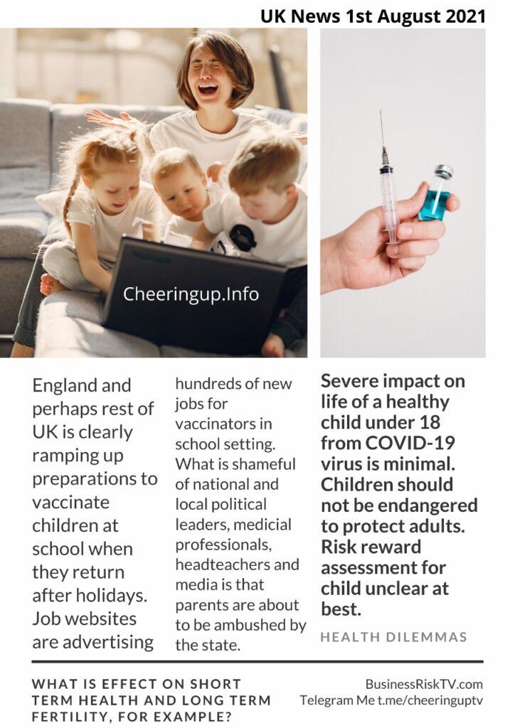 Risks Of Vaccinating Children Against Covid-19 Virus
